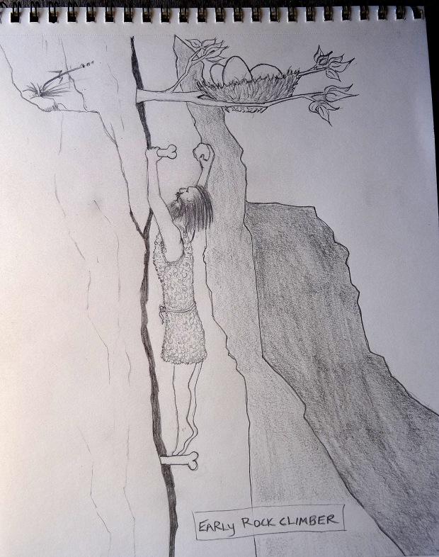 early-rock-climber